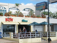 Ice Cream Parlour Helados Bon - The very best ice cream from Dominican Republic. Enjoy our modern terrace with a superb view on the malecon and the port and marina of Santa Barbara de Samana