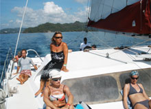 Sailing on a monohull Sailboat or on a Catamaran is by far the best way to explore the Bay of Samana and discover the superb island of Cayo Levantado