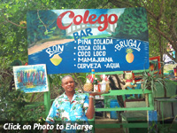 Colego Beach Bar in Samana, Dominican Republic. Colego Beach Bar is located under the Famous Bridges of Samana ( Los Puentes ) at the Local Public Beach of Samana called Playa Cayacoa just besides the Gran Bahia Principe Cayacoa Hotel Resort.