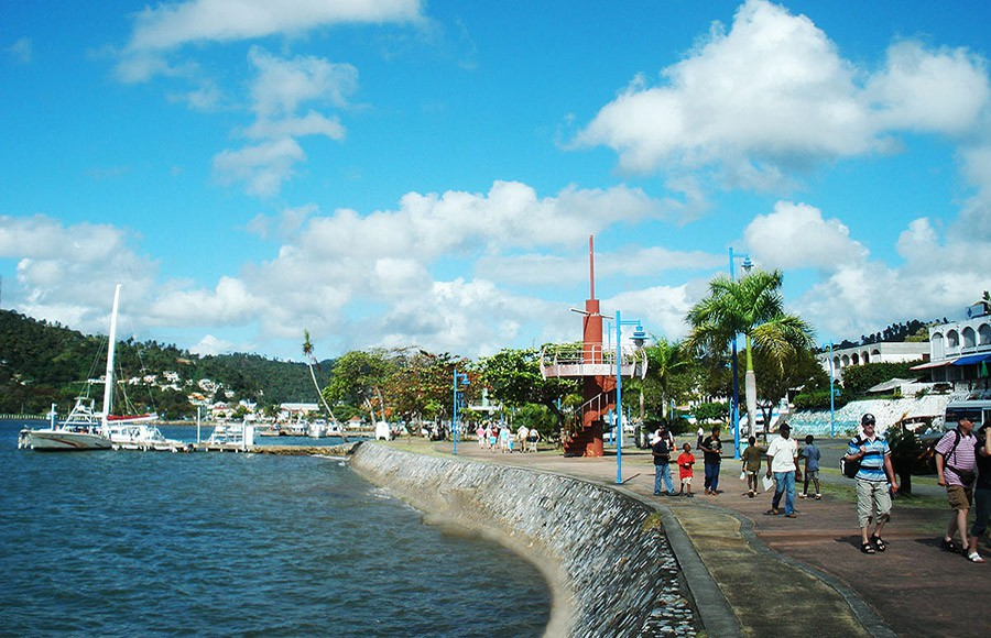 The Malecon - 1.5 Kilometers long by the Marina of Samana.