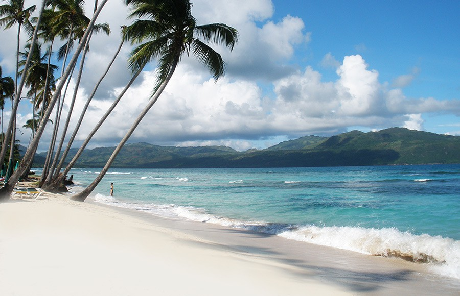 La Playita Beach in Las Galeras - 30 Kilometers from the town of Samana.