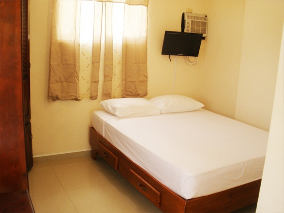1 Bedroom Apartment with Double size Bed, TV, AC and Private Balcony