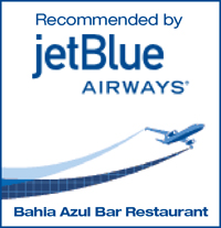 Bahia Azul Bar Restaurant in Samana Town, Dominican Republic - Recommended by Jet Blue Airlines, Flying to Samana International Airport in DR.