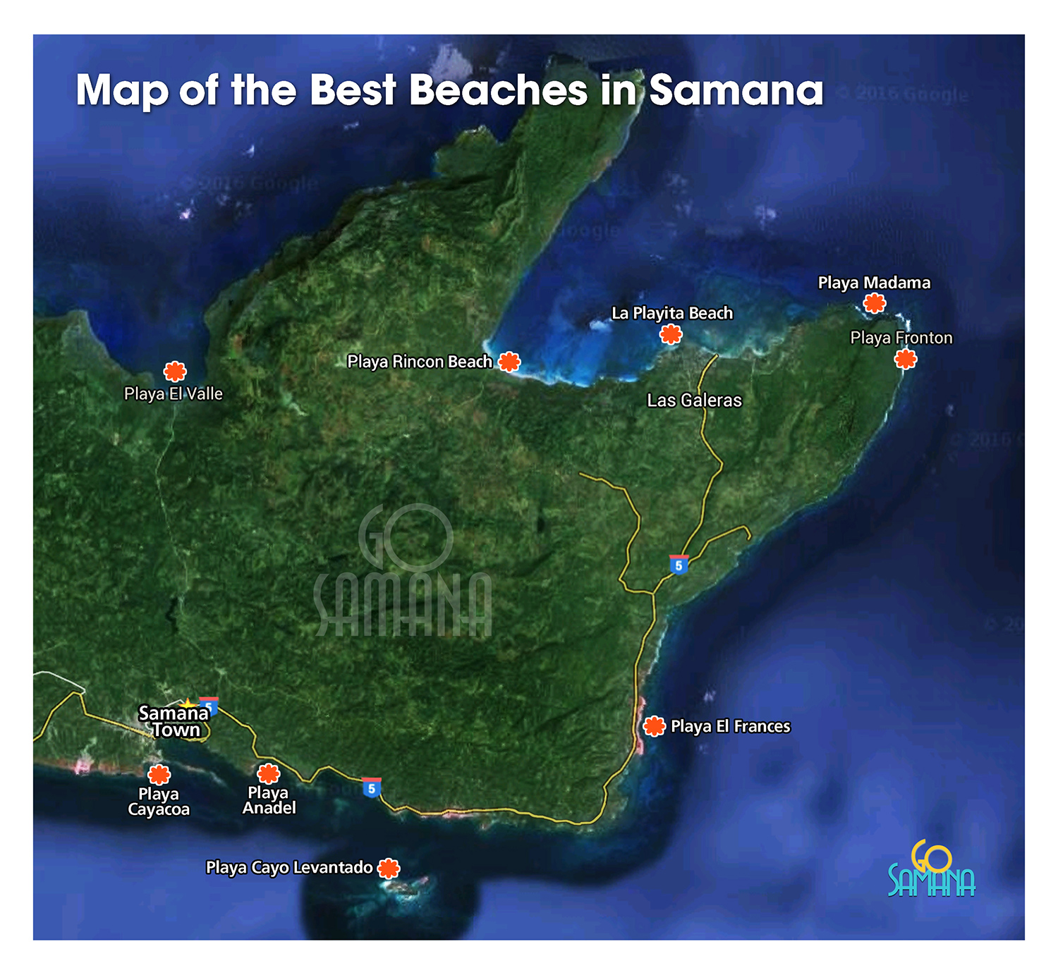 Best Beaches in Samana Dominican Republic  Map Beaches of Samana