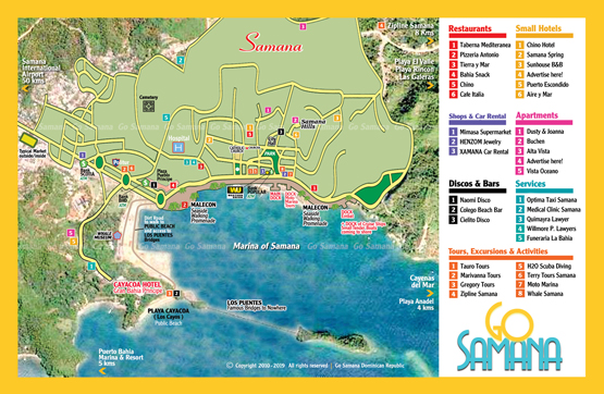 Samana Map Best Detailed Map of Samana City Dominican Republic