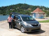 Samana Taxi - Taxi Transfer from all Airports in Dominican Republic to Samana City, Las Terrenas and Las Galeras. OPTIMA Taxi Service in Samana Town offers also Tours for Cruise Ship to the Waterfall of Cascada El Limon and to the beautiful La Playita Beach.