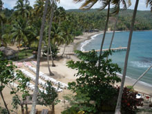 The long and pretty public beach called Playa Anadel located just a few kilometers from Santa Barbara de Samana