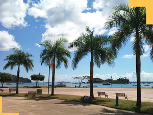 Beautiful Malecon in Samana town Dominican Republic.
