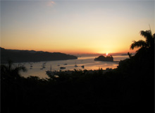 View of a Spectacular Sunrise on the Town of Samana from the Hills surrounding this beautiful place...